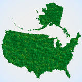 USA map from grass Stock Photos