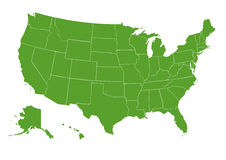 USA map green Stock Image