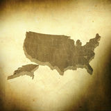 USA map on grunge background Royalty Free Stock Photos