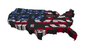 USA map grunge flag Royalty Free Stock Images