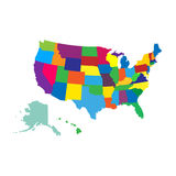 Usa map. Isolated on background. Vector illustration. Eps 10 Stock Image