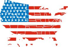 USA map isolated Royalty Free Stock Images