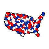 USA map made of hearts. America of love. World peace concept.  royalty free illustration