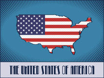 The USA map made in retro style Royalty Free Stock Image