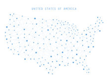 USA Map Network Connections, Vector illustration Stock Images