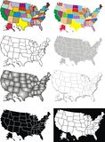 USA map Stock Photos