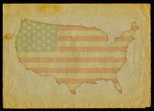 Usa Map On Old Paper Royalty Free Stock Pos