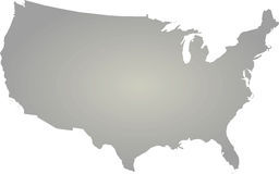 USA map. Outline vector icon Stock Image