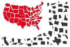 United States vector map Royalty Free Stock Photos