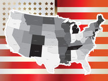 USA map vector. With names of states Royalty Free Stock Photography
