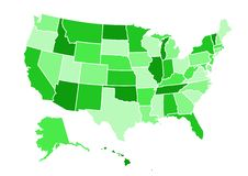 USA map vector illustration royalty free stock image