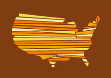 USA map vector illustration Royalty Free Stock Photography