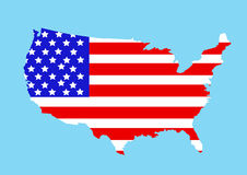 USA map vector illustration Royalty Free Stock Images