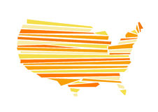 USA map vector illustration Royalty Free Stock Photo