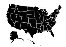 USA map vector illustration Stock Photo