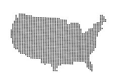 USA map vector illustration Stock Photos