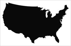 USA Map Vector stock photos