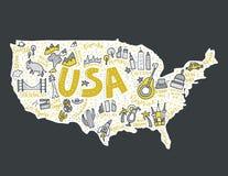 USA Map Vector Stock Image