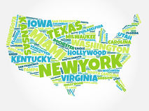 USA Map word cloud Royalty Free Stock Images
