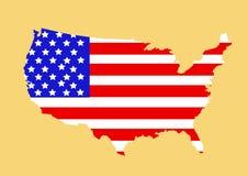 USA mapy wektoru ilustracja Zdjęcia Stock