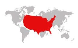 USA mapy wektoru ilustracja ilustracja wektor