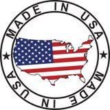 USA mapy znaczek Zdjęcia Royalty Free