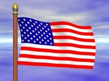USA-MARKIERUNGSFAHNE Lizenzfreie Stockbilder