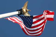 USA-Markierungsfahne Stockfoto