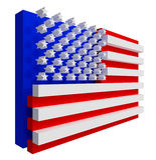 USA-Markierungsfahne. Enthalten Sie Ausschnittspfad. Stockfotografie