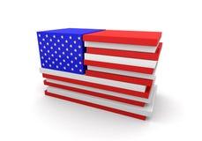 USA-Markierungsfahnen-Blöcke Stockfoto