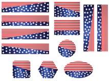 USA-Markierungsfahnenfahnenset Lizenzfreie Stockfotos