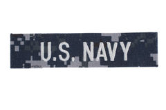USA marynarki wojennej munduru odznaka Zdjęcie Stock