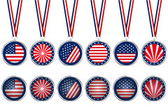 USA medals and buttons Stock Image