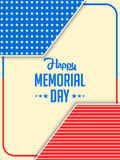 USA Memorial Day Abstract Royalty Free Stock Photography