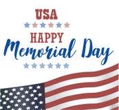 USA Memorial Day Lyckligt Memorial Day för vektor kort vektor illustrationer