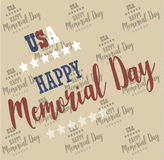 USA Memorial Day. Pattern, background Vector Royalty Free Stock Photo