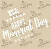 USA Memorial Day. Pattern, background Vector Royalty Free Stock Images