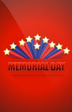 USA Memorial day sign Royalty Free Stock Image