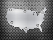 USA metal map Royalty Free Stock Image