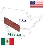 USA Mexican border control Royalty Free Stock Image