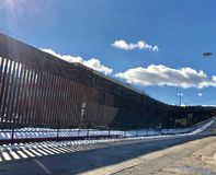 Border fence royalty free stock images