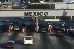 USA/Mexico border in San Diego, CA facing Tijuana Stock Photo