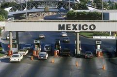 USA/Mexico border in San Diego, CA facing Tijuana Stock Photos