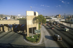 USA/Mexico border in San Diego, CA facing Tijuana Royalty Free Stock Photography