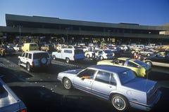 USA/Mexico border from Tijuana into San Diego, CA Royalty Free Stock Image