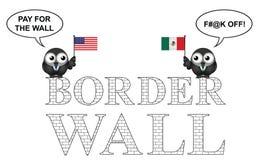 USA Mexico border wall Royalty Free Stock Photography