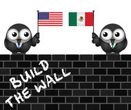 USA Mexico border wall Stock Images