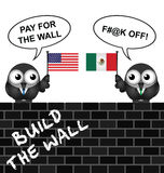 USA Mexico border wall Stock Photography