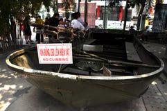 USA Militarna łódź używać w wojna w wietnamie Obraz Royalty Free