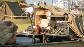 USA militarny switchboard na pokazie w mieście Zdjęcie Royalty Free